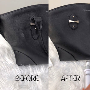 Our Leather Cleanser is key to maintaining luxury leather items such as Chanel lambskin and Louis Vuitton vachetta purses, bags and SLGs. The water-based formulation is ultra gentle and suitable for most leather types. The cleanser gently removes water stains and dirt whilst maintaining suppleness of the leather.