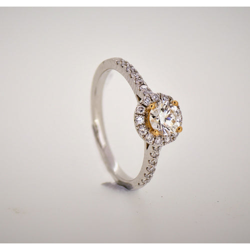 0.50ct D VS2 Lab Grown Diamond set in a 18K Yellow Gold Solitaire Ring