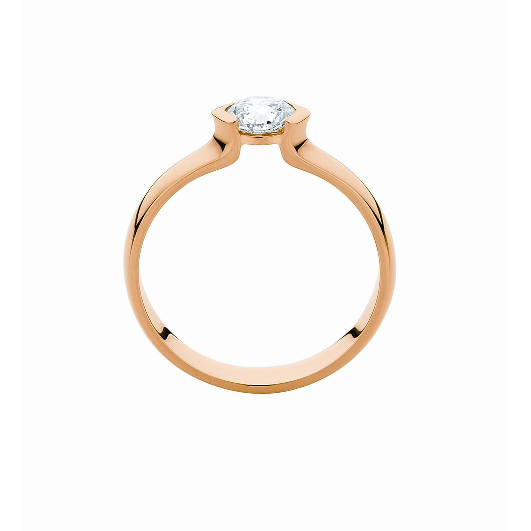 18K Gold Solitaire lab grown diamond ring in Australia
