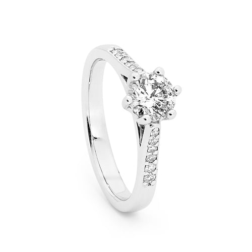 Multi set design white gold lab grown diamond Ring in Australia