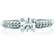 Load image into Gallery viewer, Multi-set design 1/2 ct or 3/4ct center stone featuring 21 greenhouse diamonds