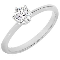 10k White Gold 0.50ct Solitaire Ring
