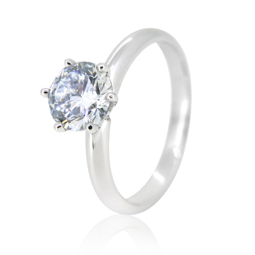 18k White Gold 1ct Solitaire Ring