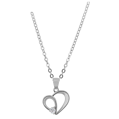 Heart Pendant made in sterling silver with lab grown diamond