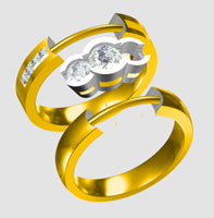 Load image into Gallery viewer, 50pt Round Greenhouse Diamond loose, then we can design your dream ring together.
