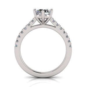 Laboratory grown 6 claw solitare diamond ring by Greenhouse diamonds