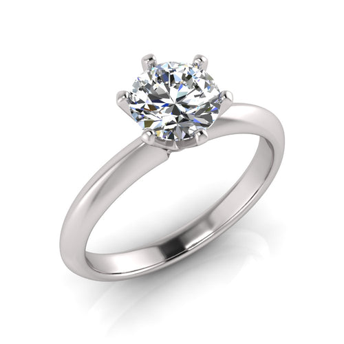 Laboratory grown 6 claw Solitaire diamond ring by Greenhouse diamonds