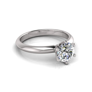 18K White Gold Solitaire lab grown diamond Ring by Greenhouse Australia
