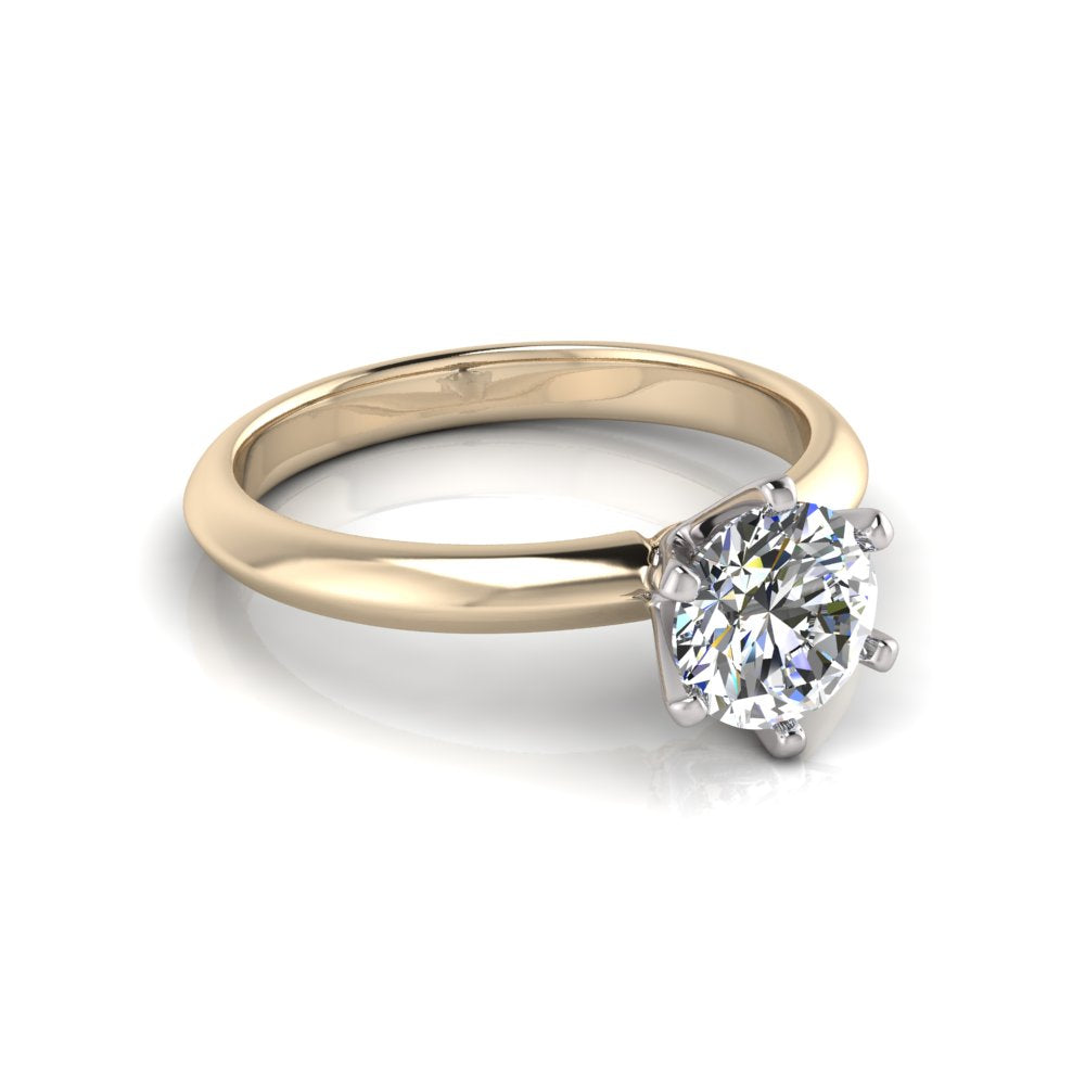 Beautiful Solitaire Diamond Ring Eco Friendly