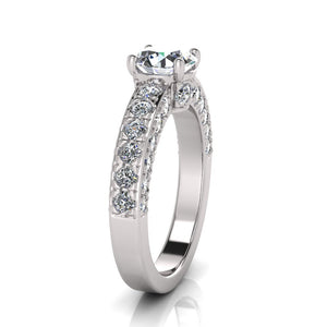 Laboratory grown 4 claw solitare diamond ring by Greenhouse diamonds