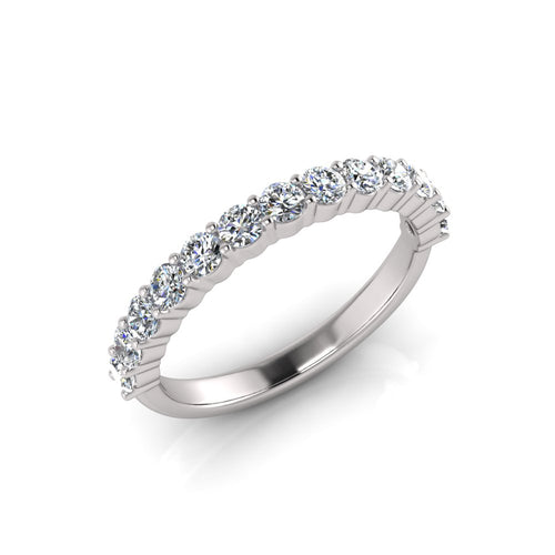 White Gold Engagement ring made with greenhouse lab grown diamonds