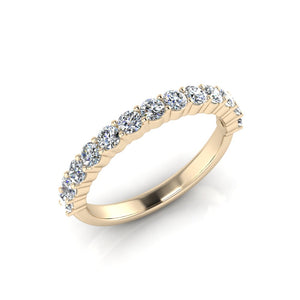 Yellow Gold Engagement ring made with greenhouse lab grown diamonds