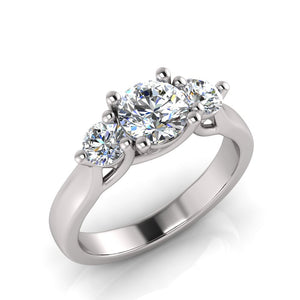 Laboratory grown trilogy diamond ring by Greenhouse diamonds