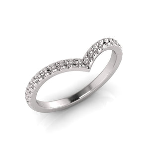 White Gold Wedder Ring made with Lab Grown Diamonds by Greenhouse