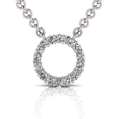 Laboratory grown circle diamond pendant by Greenhouse diamonds