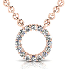 Load image into Gallery viewer, Laboratory grown circle diamond pendant by Greenhouse diamonds