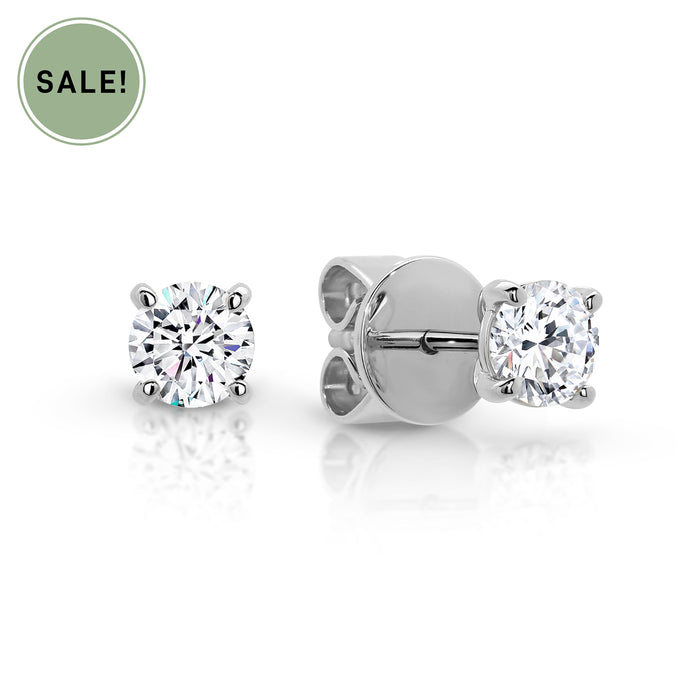 Greenhouse Diamond Earrings in Yellow, White or Rose Gold from 10pts to 1.00ct TDW