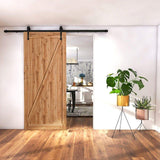 "SMARTSTANDARD 5ft Heavy Duty Sturdy Sliding Barn Door Hardware Kit -Smoothly and Quietly -Easy to Install -Includes Step-by-Step Installation Instruction Fit 30"" Wide Door Panel (Arrow Shape Hanger)"