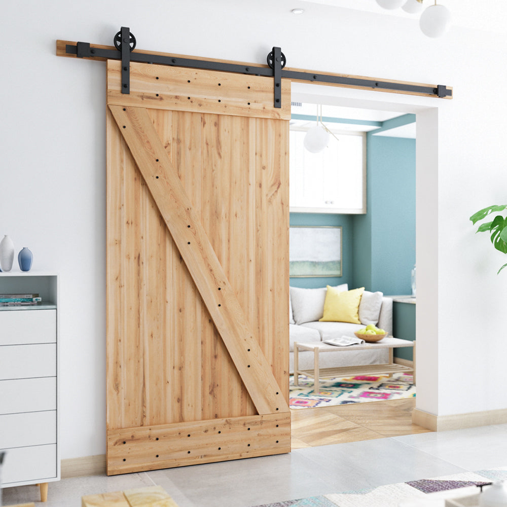 Smartstandard Heavy Duty Sliding Barn Door Hardware Kit