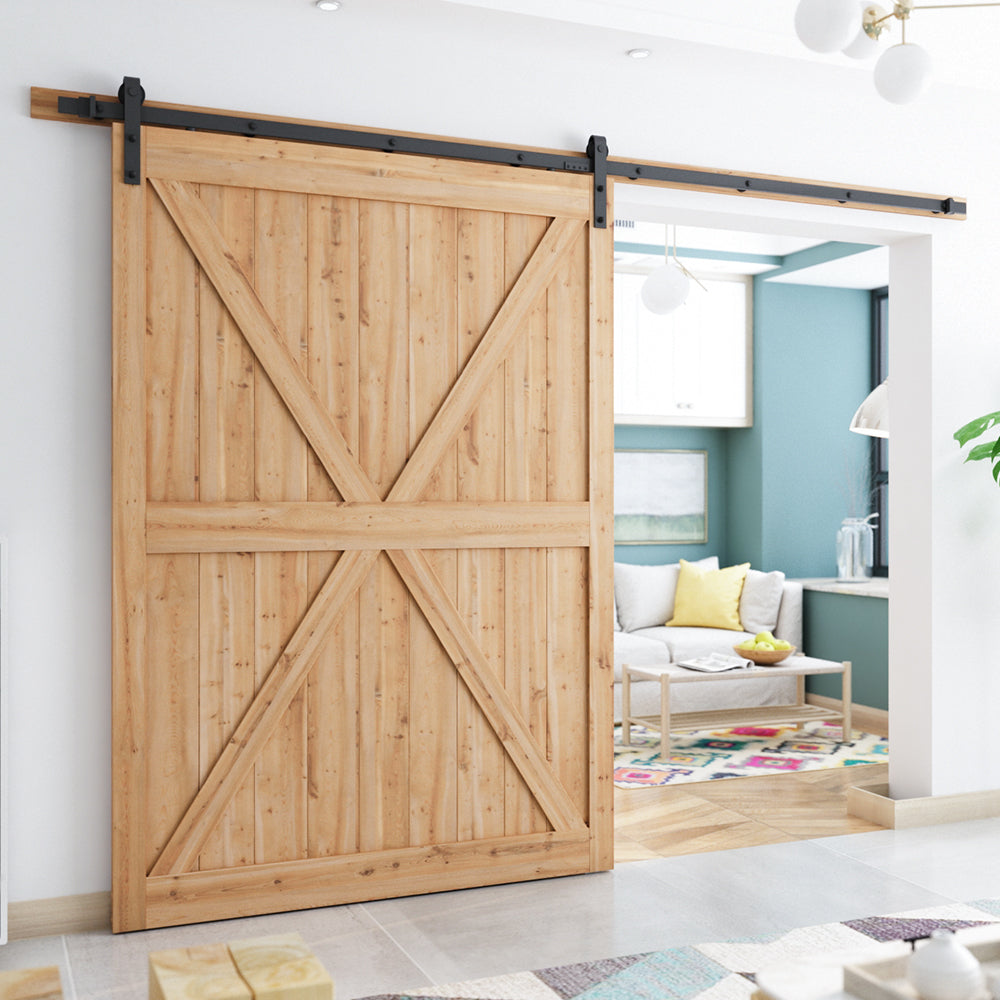 Smartstandard 10ft Heavy Duty Sturdy Sliding Barn Door