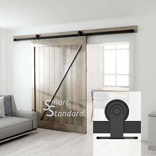 10ft Heavy Duty Sturdy Sliding Barn Door Hardware Kit - Fit 60