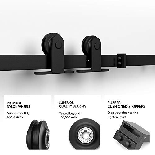 10ft Heavy Duty Sturdy Sliding Barn Door Hardware Kit