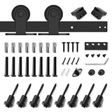 "10ft Heavy Duty Sturdy Sliding Barn Door Hardware Kit - Fit 60"" Wide Door Panel(T Shape Hanger)"