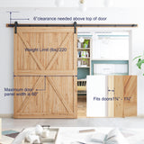 "SMARTSTANDARD 10FT Heavy Duty Sturdy Sliding Barn Door Hardware Kit 10' Double Track Rail, Super Smoothly and Quietly, Simple and Easy to Install Fit 60"" Wide DoorPanel (J Shape Hanger)"