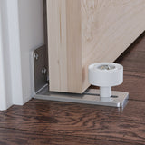 Sliding Barn Door Floor Guide, Stainless Steel Adjustable Wall Mount Stay Roller, Flush to Floor