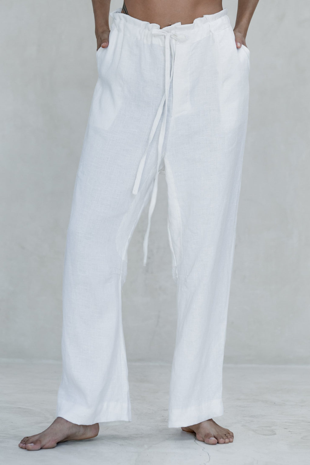 White Ishi Pants