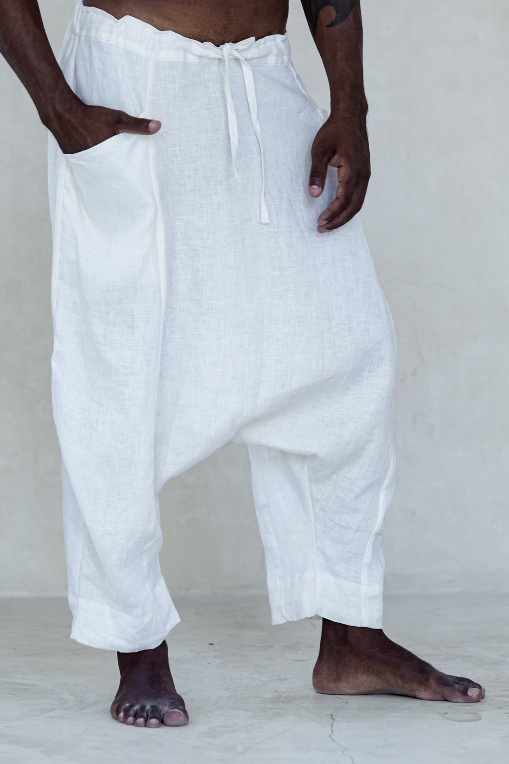 White Mandarine Pants