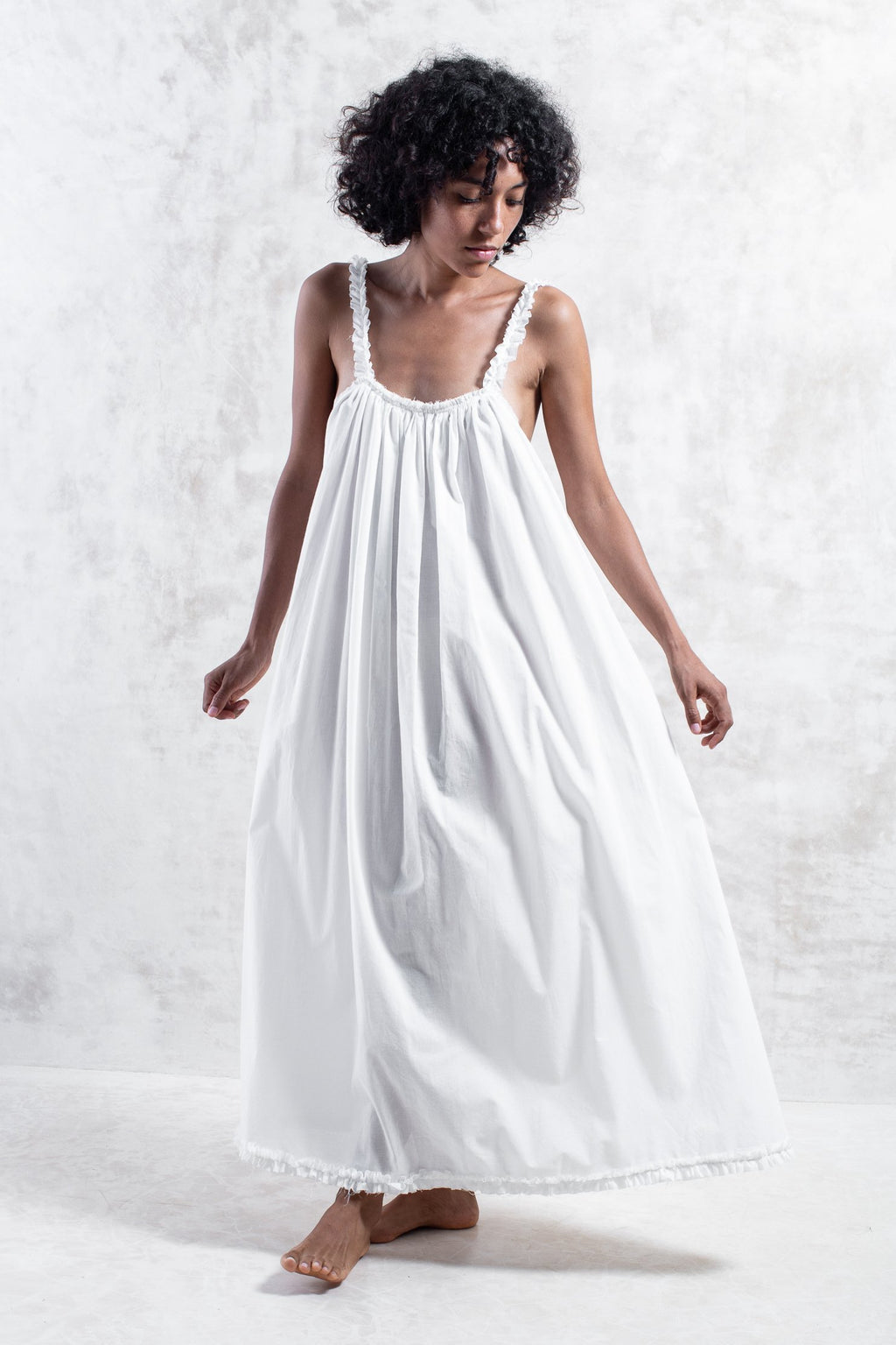 Organic White Tulum Dress