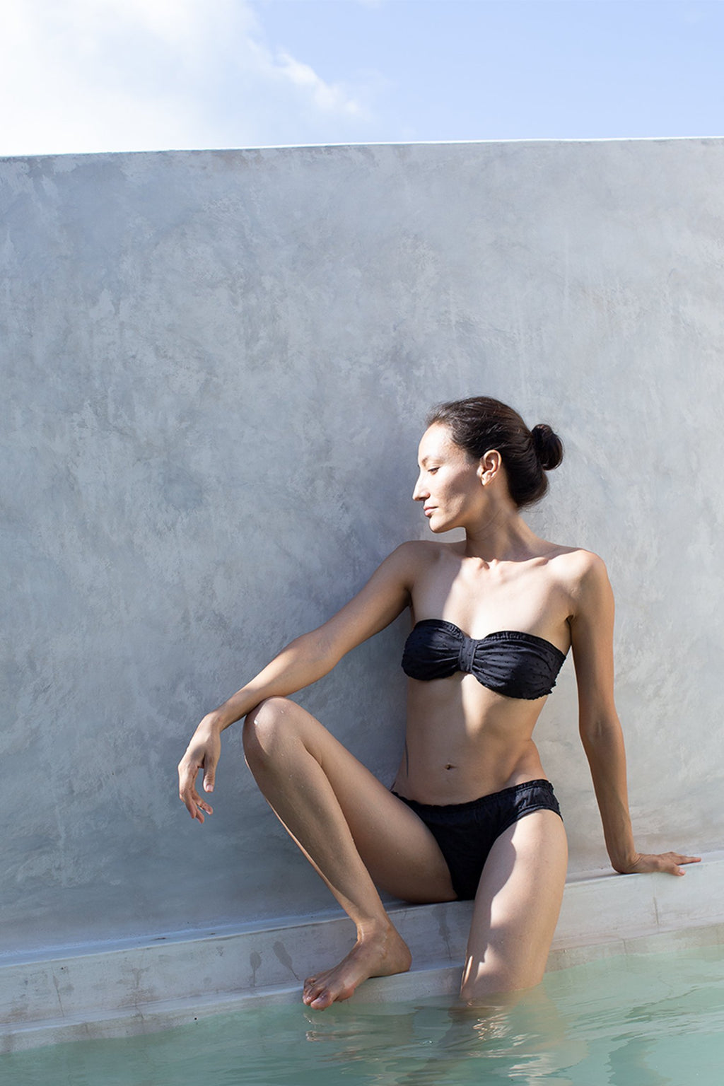 Black Swiss Dot Organic Cotton Dream Bikini