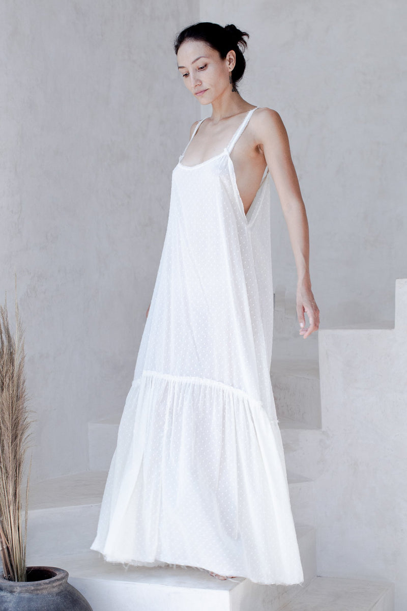 Elena's Dream Dress Swiss Dot Off White