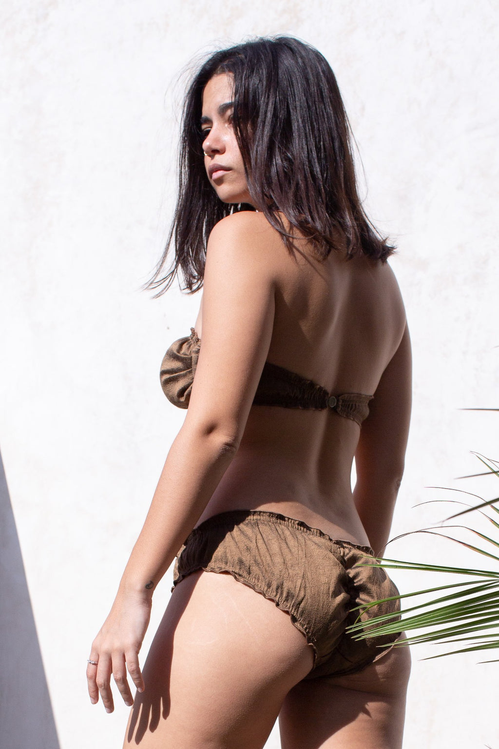 Bronze Chocolate Raw Silk Dream Bikini