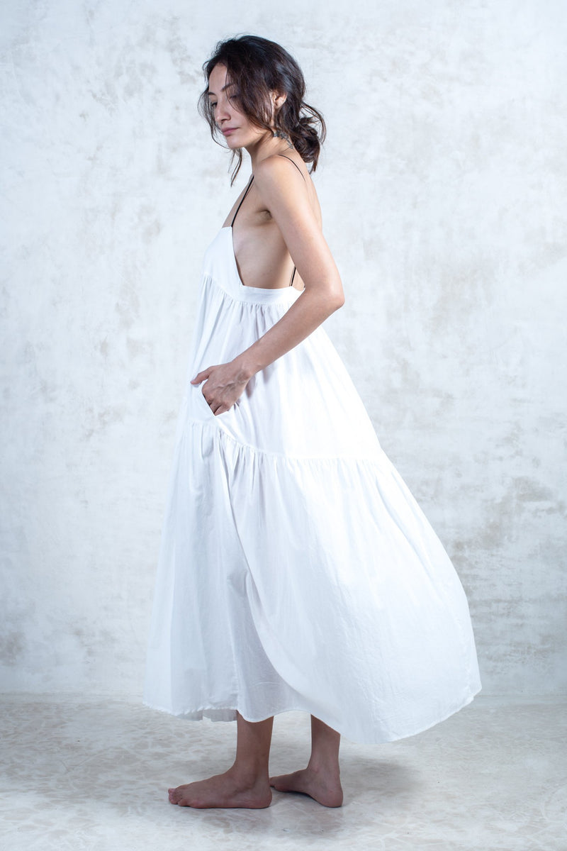 Organic White Laya Dress