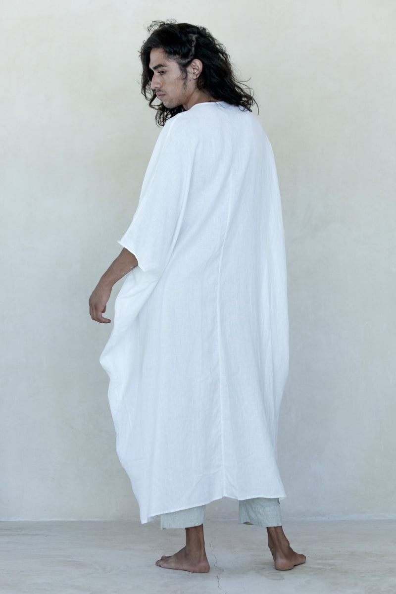 White Linen Sanctuary Kaftan