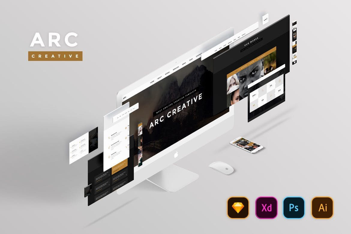 Arc Creative Website UI Kit