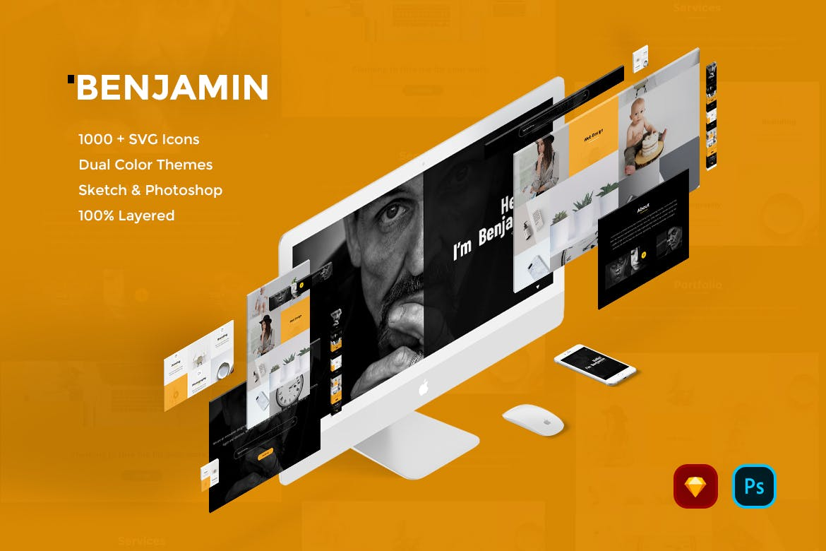 Benjamin Creative Website UI Kit