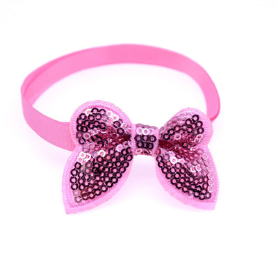 Products Bow-Ties Dog-Accessories Pet-Supplies Puppy Pet-Dog-Cat 50pcs Sequin Bright