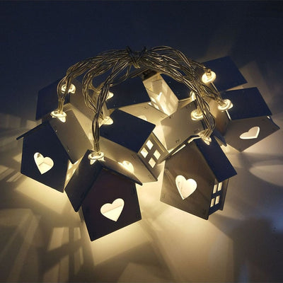 1.5M 10 LED House Shaped New Year Led String Light for Christmas Wedding Party Decoration
