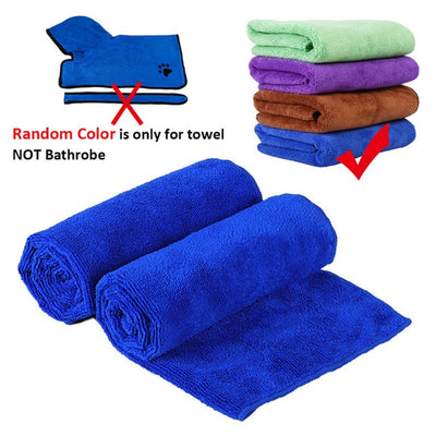Dog Bathrobe Microfiber KEK Pet-Dog Super-Absorbent Small GLORIOUS for Medium Large 400g