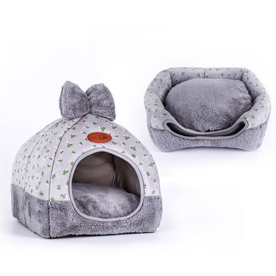 OLN Kennel Sofa Puppy Dog-House Pet Pet-Dog Dogs Warming Soft Small Winter Medium