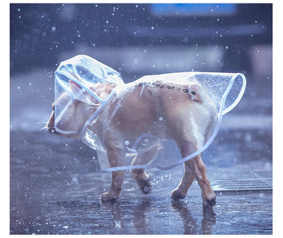 HOOPET Dog Raincoat Waterproof Transparent Small with Hood Light