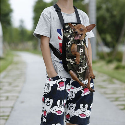 Backpack Shoulder-Handle-Bags Pet-Dog-Carrier Travel-Products Small Chihuahua Camouflage