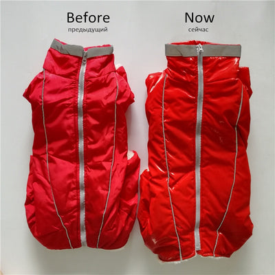 Jumpsuit Pet Dog-Down-Jacket Reflective Small Waterproof Warm GLORIOUS Chihuahua Winter