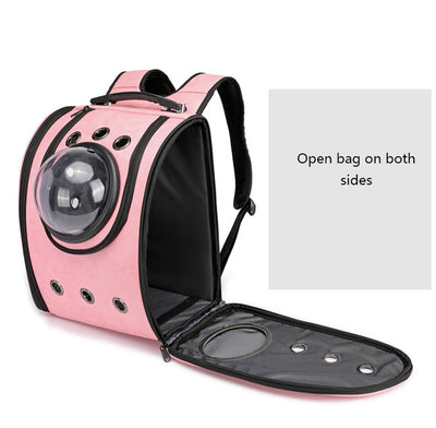 Cat carrier Backpack Breathable Travel Leather Shoulder Bag Cat Soft Outdoor Portable Packaging Carrier