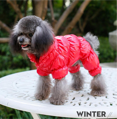 Overalls Jumpsuit Down-Coat Dogs Waterproof Winter Warm for Thicken Parka Puppy-Outfit