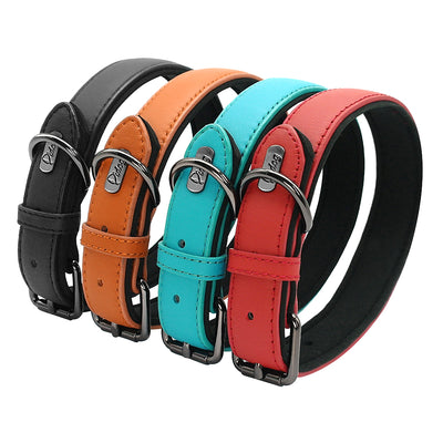 Dog-Collar German Shepherd Genuine-Leather Dogs Adjustable Large Medium Padded for Mascotas