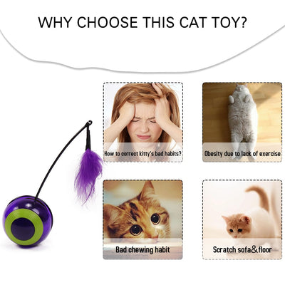 Cat-Toy Cat Puzzle Pet-Fun Kitty Plush Interactive Scratching Electric Automatic Rotating-Play